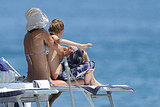 Helena Christensen swims with son Mingus Reedus.