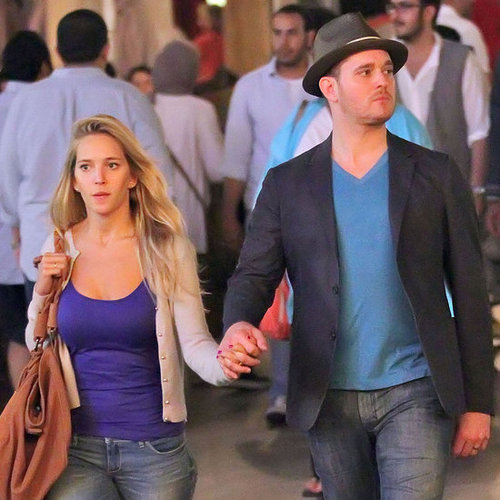 Michael Buble and Luisana Lopilato at The Grove in LA
