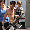 Colin Farrell on Total Recall Set With Son Henry