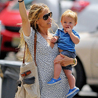 Sheryl Crow With Sons Wyatt and Levi in NYC