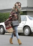 Rachel Bilson carried a Chanel bag.
