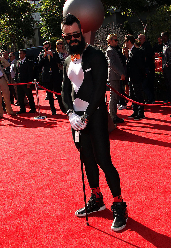 Brian Wilson's spandex tuxedo was quite the sight.