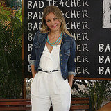 Cameron Diaz traveled solo to promote Bad Teacher in Mexico.