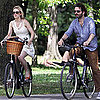 Rachel McAdams and Michael Sheen Riding Bikes in Toronto