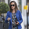 Pippa Middleton in Blue Jacket in London