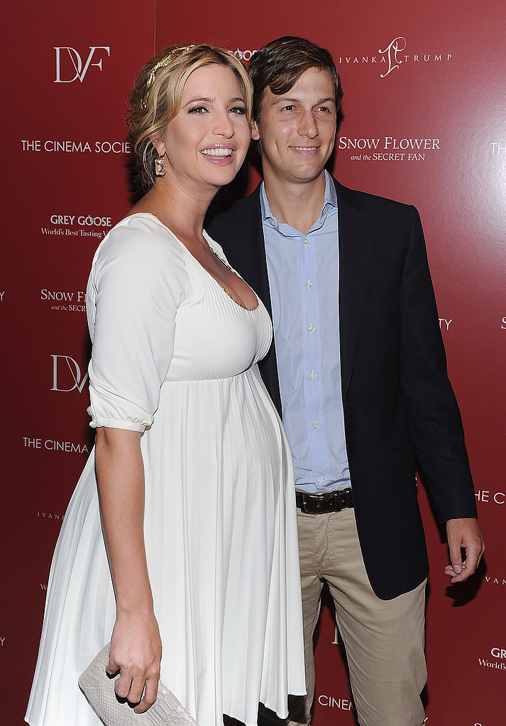 Ivanka Trump smiling with Jared Kushner.