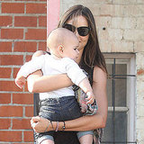 Miranda Kerr and Flynn cuddled close.