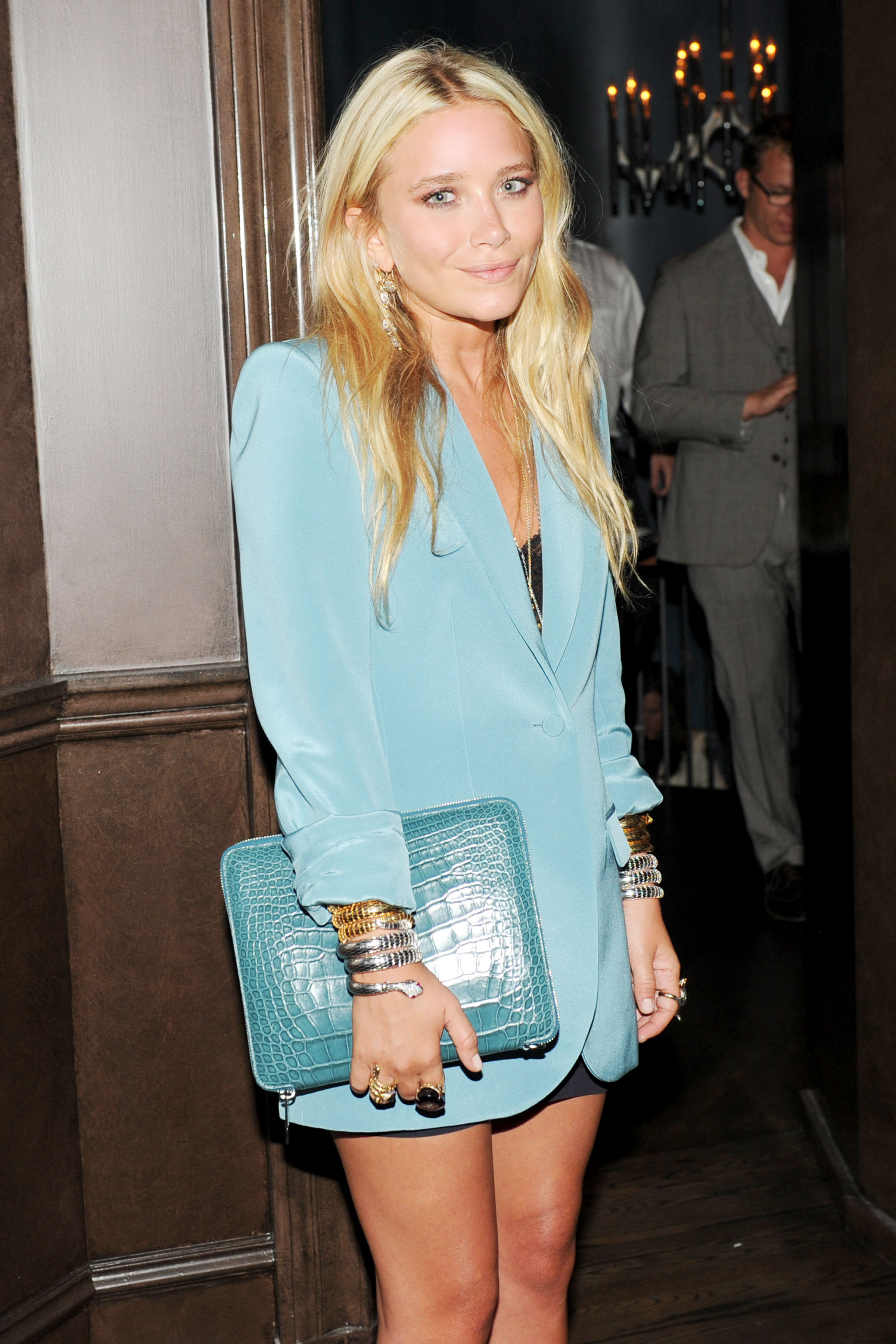 MAry-Kate Olsen at The Crown for The Row's handbag dinner.