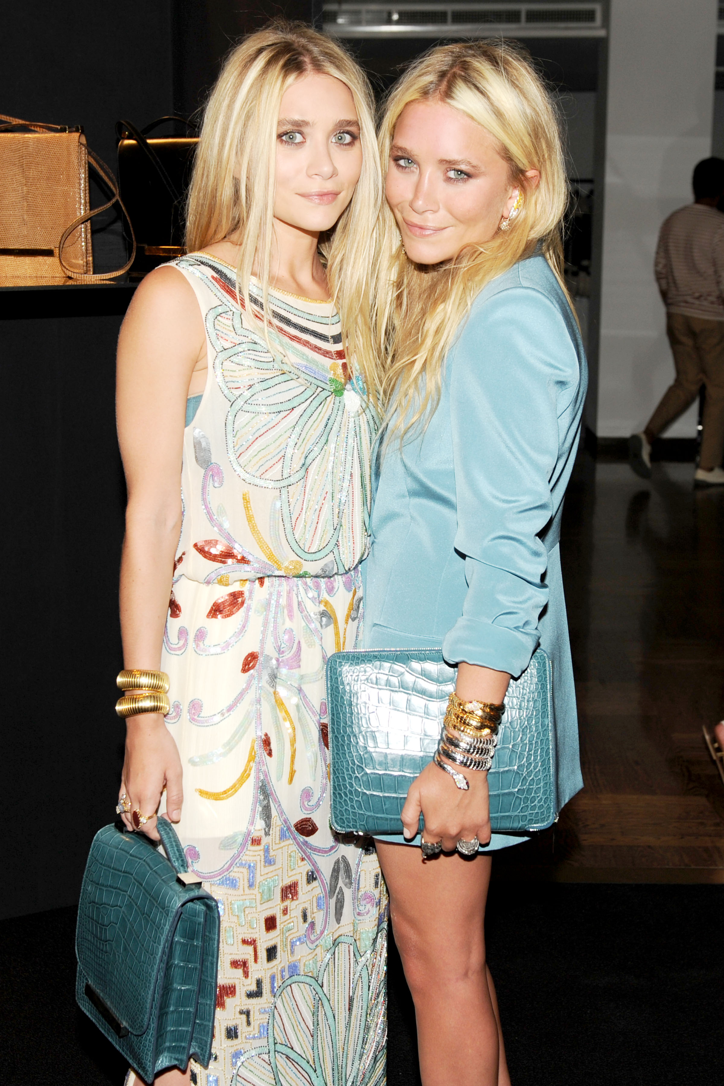 Mary-Kate Olsen and Ashley Olsen launch The Row's handbags.