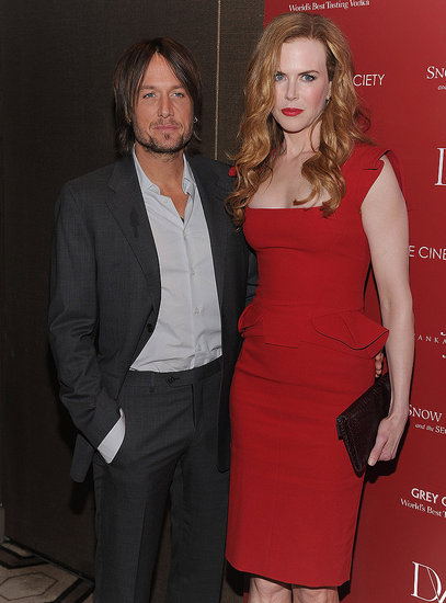 Nicole Kidman and Keith Urban dressed up.