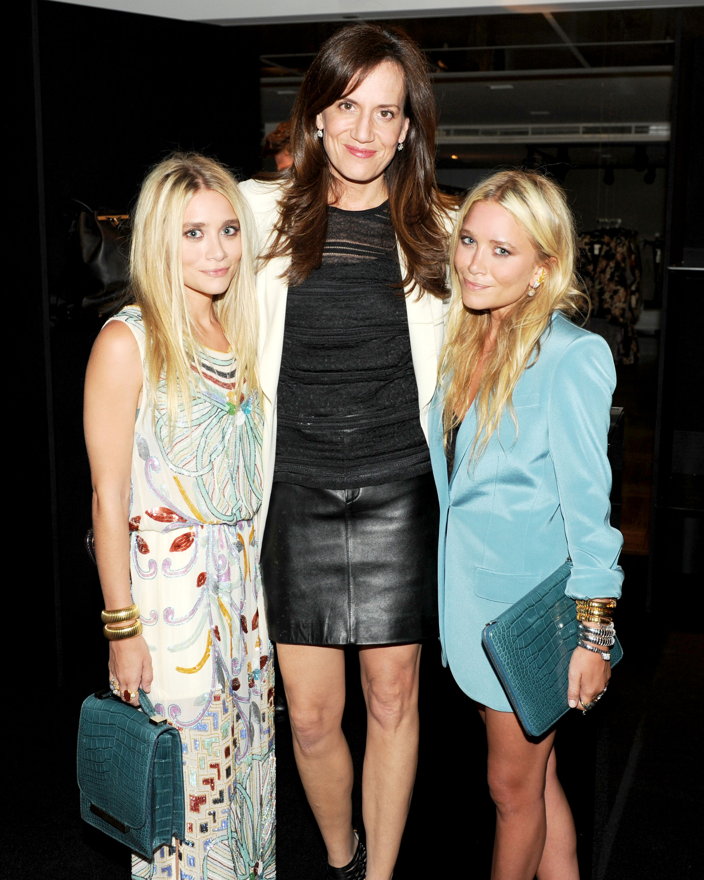 Ashley Olsen, Daniella Vitale, and Mary-Kate Olsen at The Row's handbag launch.