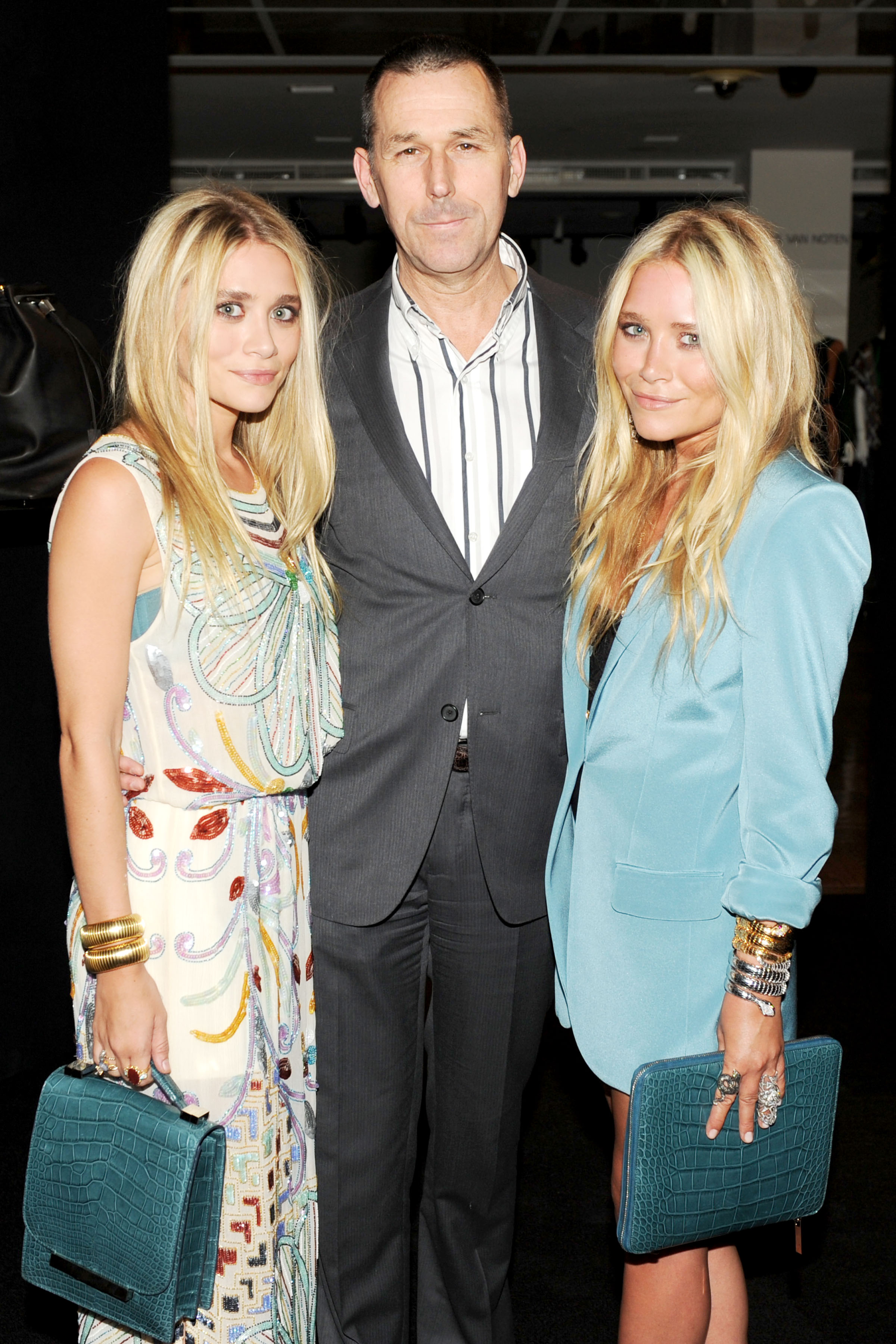 Ashley Olsen, Mark Lee, Mary-Kate Olsen at Barneys.