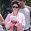 Rachel Bilson in Short Shorts and a Pink Bathrobe Pictures