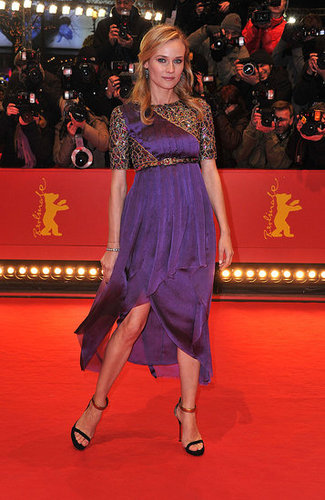 Didn't she look positively regal in a violet Chanel dress at the Berlin Film Festival in February 2011?