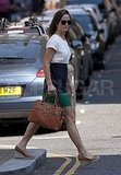 Pippa Middleton leaving Sloane Tailors.