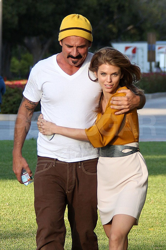 AnnaLynne McCord with boyfriend Dominic Purcell.