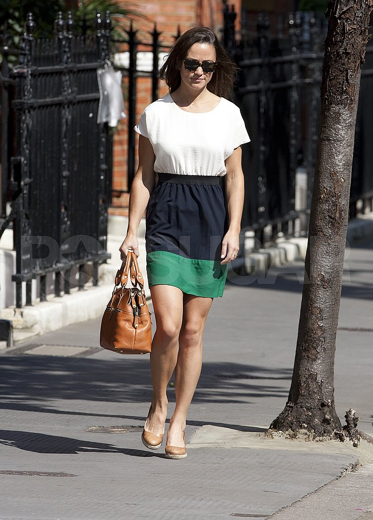Pippa Middleton walking in London.