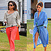 Pictures of Rachel Bilson Wearing Silk Negligee on The To Do List Set