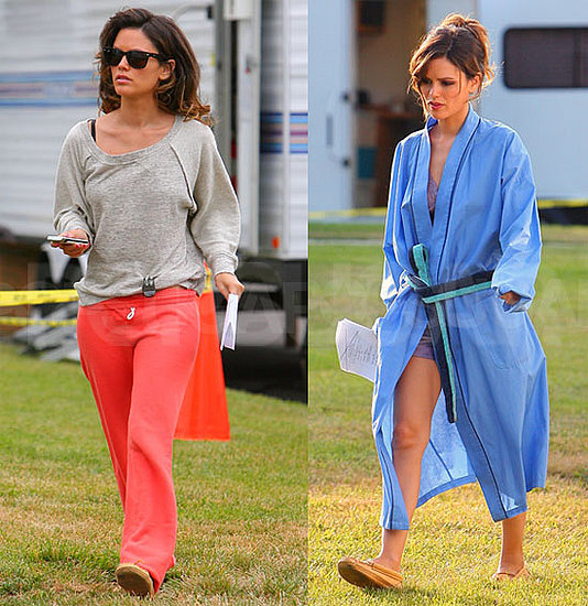 Rachel Bilson Reports to Work in Sweats Then Makes a Quick Change Into Sexy Silk
