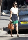 Pippa Middleton shows her fashion sense in London.