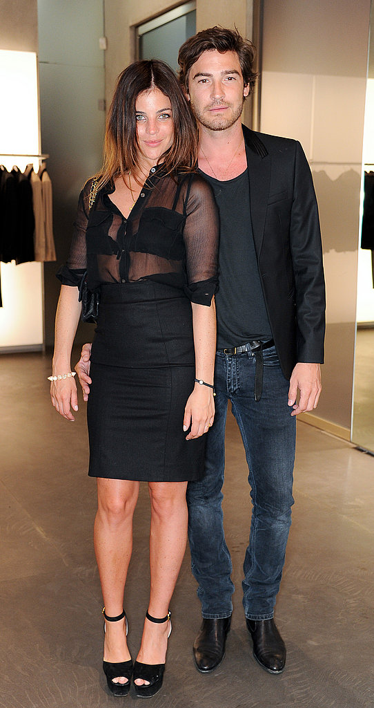 Julia Restoin-Roitfeld and Robert Konjic at the Emporio Armani Summer Garden Live party.