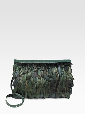 Maison Martin Margiela Feather Clutch ($707, originally $1,415)