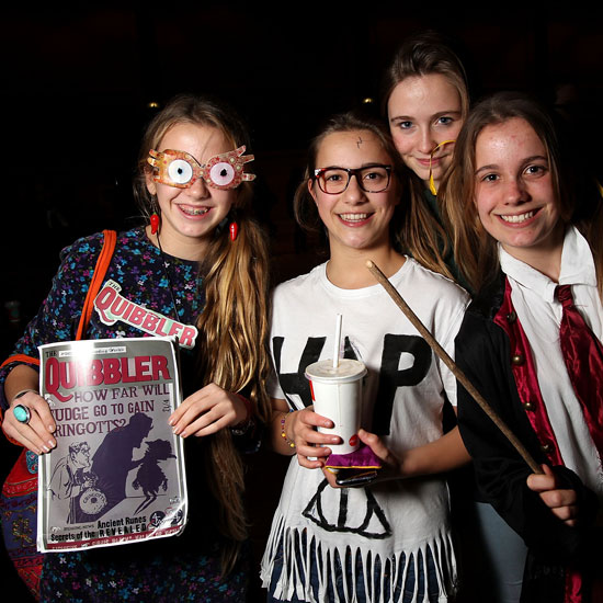 A Luna Lovegood lookalike is one of the many fans at the first public screening of Harry Potter and the Deathly Hallows Part 2 in Melbourne, Australia.