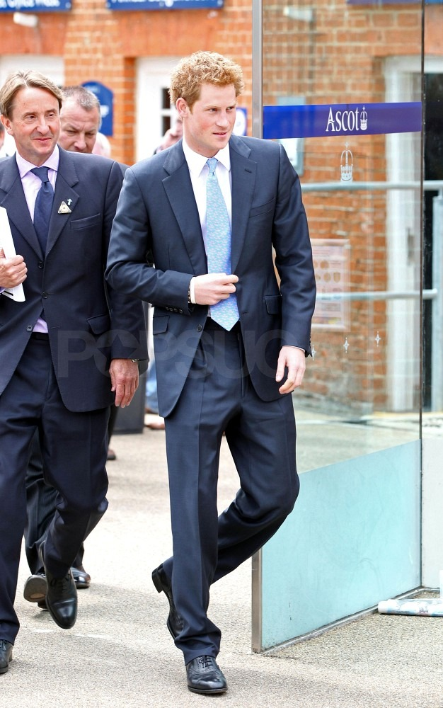 Prince Harry in a suit.