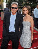 Harrison Ford arrived with his wife.