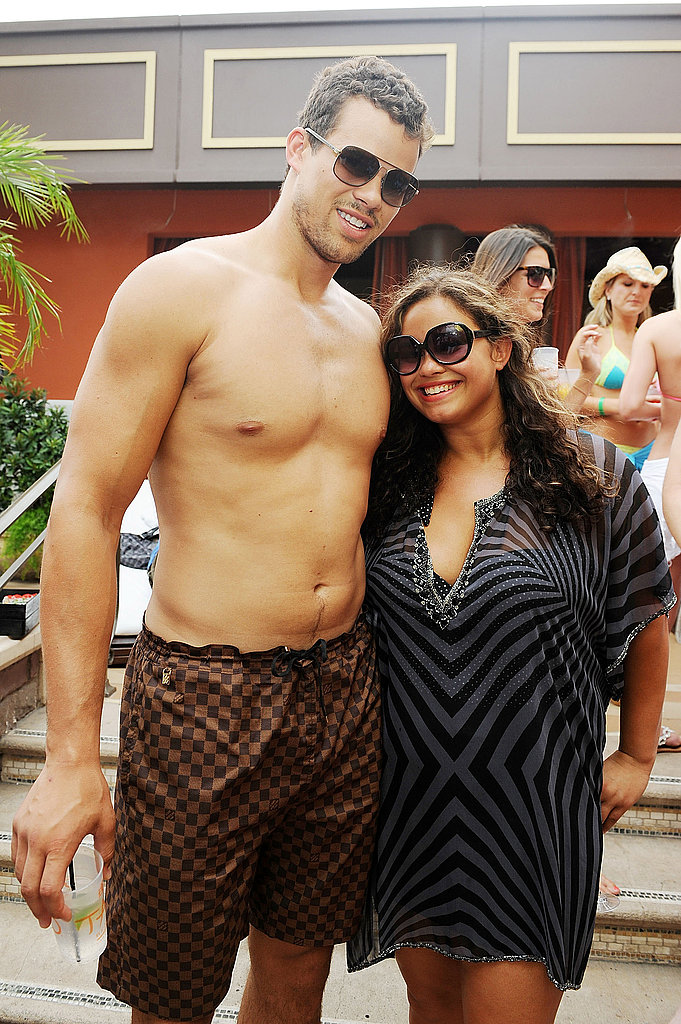 Kris Humphries was joined by his sister, Kaela, at the pool