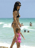Adriana Lima and daughter Valentina Jaric in Miami.
