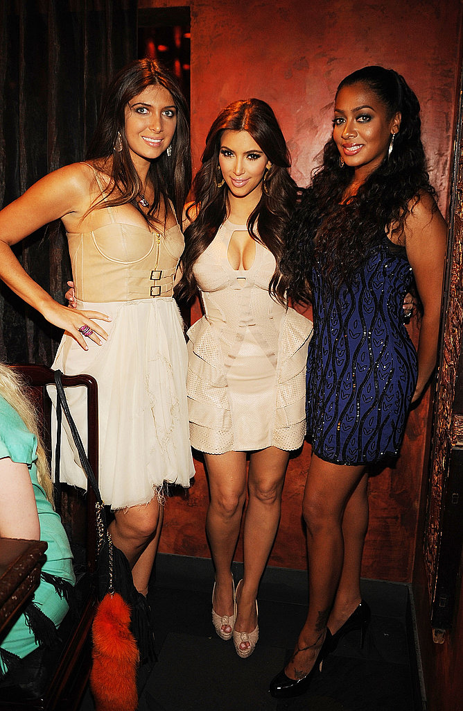 Kim Kardashian was joined by her best friends Brittny Gastineau and Lala Vasquez.