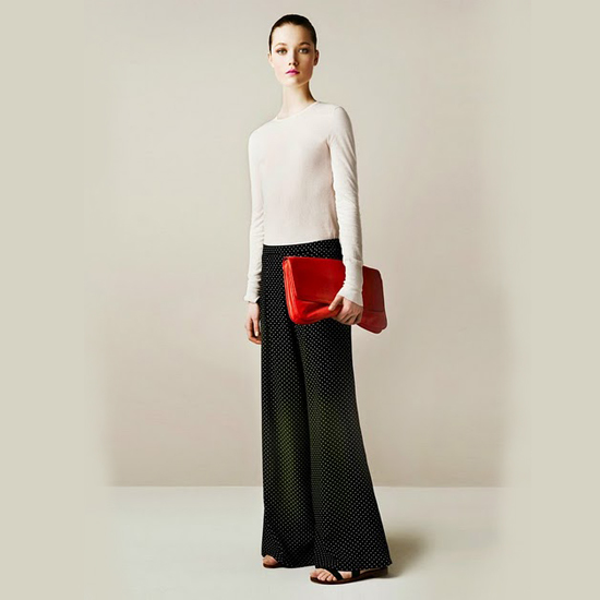 Mass retailers started offering the look for Spring 2011 as well. Here, a look from Zara's March 2011 lookbook.
