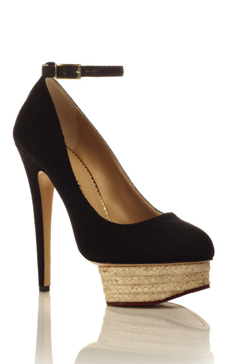 Dolores Ankle Strap Pump, $800