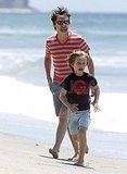 Matthew Bellamy and Ryder Robinson in Malibu.