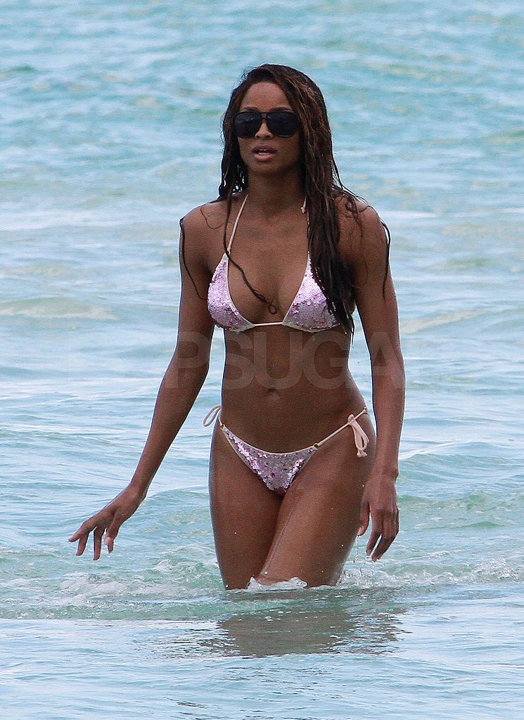 Ciara chose a sexy two-piece swimsuit.