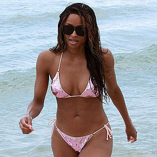 Ciara in a Pink Sequined Bikini in Miami Beach Pictures