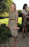 Afternoon party wear — temper a lacy dress with a sturdy leather belt and nude heels like Kate did in 2010.