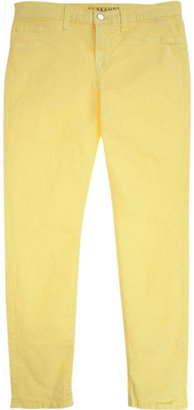 J Brand Yellow Skinny Crop Jeans ($176)