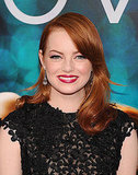 Emma Stone in red lipstick at the Crazy Stupid Love premiere in NYC.