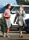 Kate Hudson and Matthew Bellamy shared a laugh.