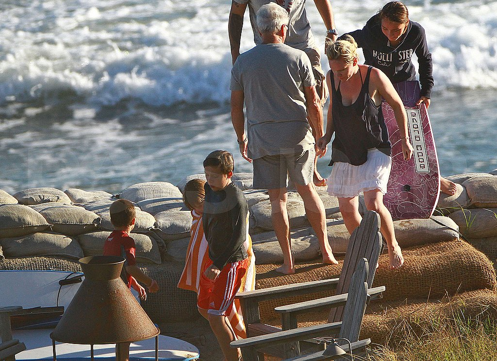 David Beckham Goes Shirtless to Hit the Beach With His Boys!