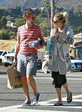 Kate Hudson and Matthew Bellamy hit a Malibu store.
