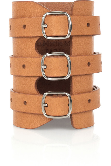 We love the modern take on this triple-buckle leather cuff.  Maison Martin Margiela Triple-Buckle Leather Cuff ($200)
