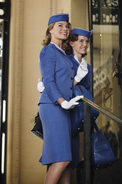 Margot Robbie and Kelli Garner in ABC&#039;s Pan Am.	