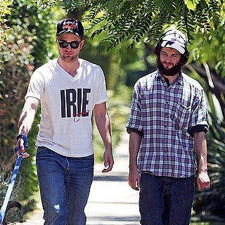 Robert Pattinson and Tom Sturridge Pictures With Rob's Dog Bear