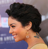 Vanessa Hudgens's new crop reveals her butterfly tattoo.