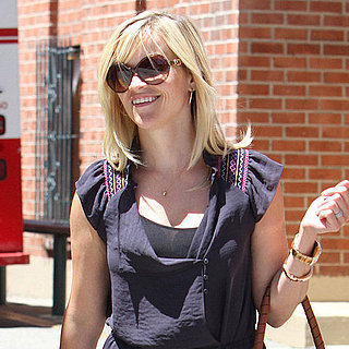 Reese Witherspoon in a Dress Running Errands in Studio City