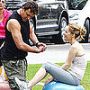 Jason Segel and Leslie Mann on the Set of Judd Apatow Movie