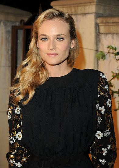 Diane Kruger with a side-swept hairdo.